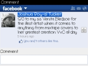 Facebook support from Josh