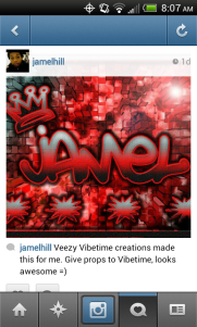 Support from my friend Jamel